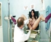Adriana Visiting Gyno Doctor For Real Pussy Gyno Exam from real doctors having