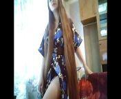 Sexy Very Long Hair Playing, Long Hair, Hair from very long hair indian saree aunty