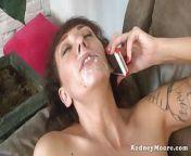 Slim MILF Alia Janine Big Tits Gets a Facial From Rodney from alia bhat39s xxx video