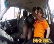 Fake Driving School Hot Ebony Jai James with Huge Tits Cant Drive from fake naked sa