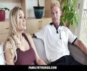 FamilyStrokes - Hot Stepmom Gives Reward Blowjob from saxanas